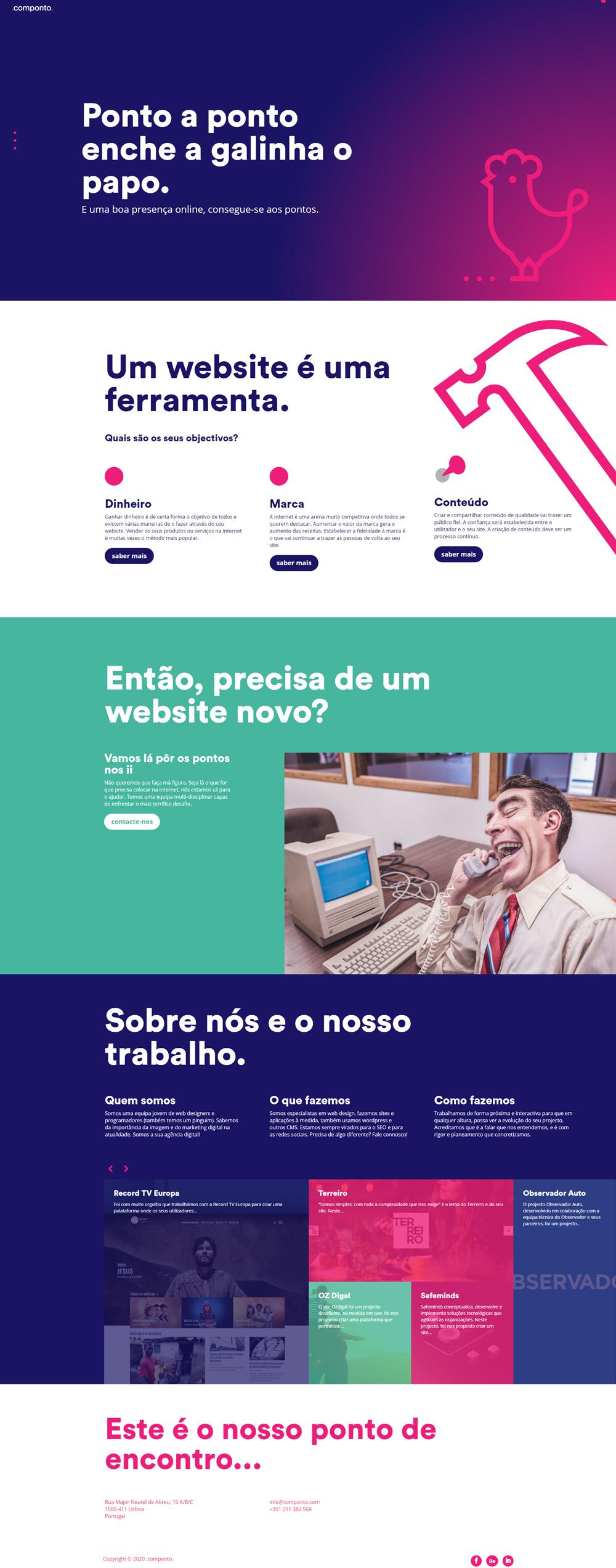 Site em wordpress, SEO e Mautic da Componto