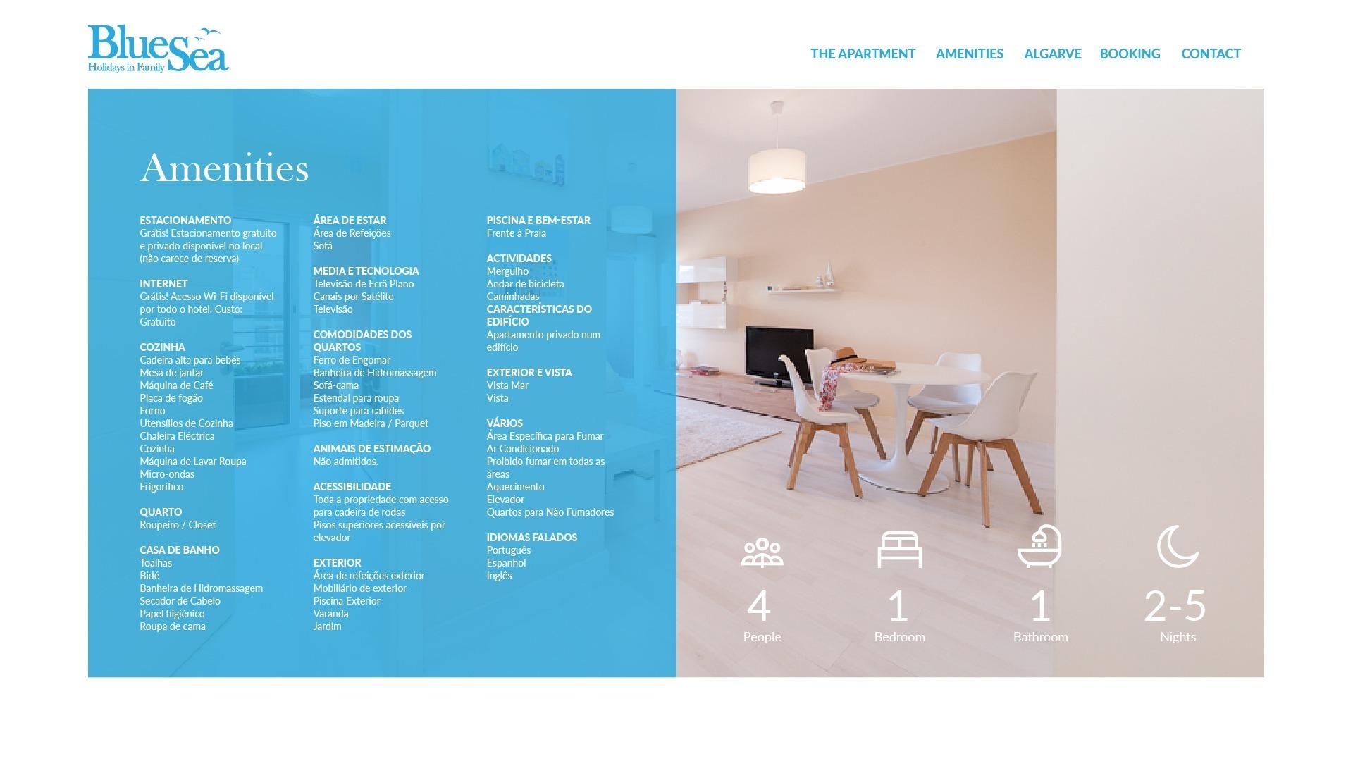 Site em wordpress da Blue Sea