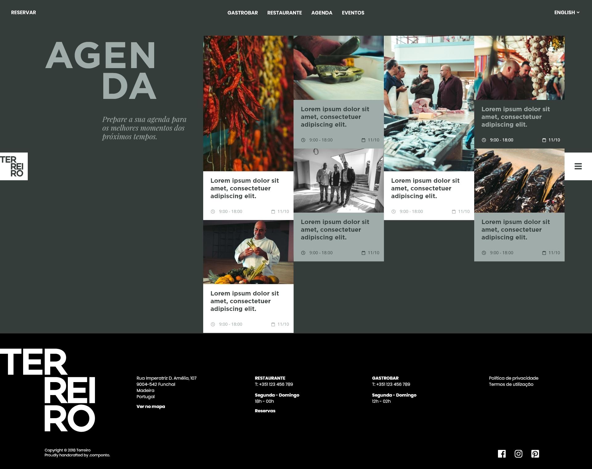 Site em WordPress e SEO do Terreiro Concept