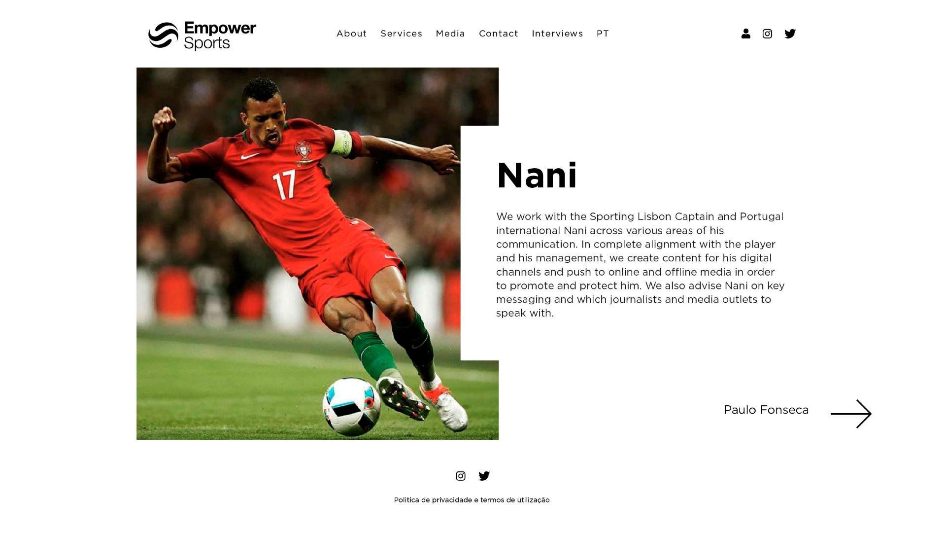 Site em wordpress e SEO da Empower Sports