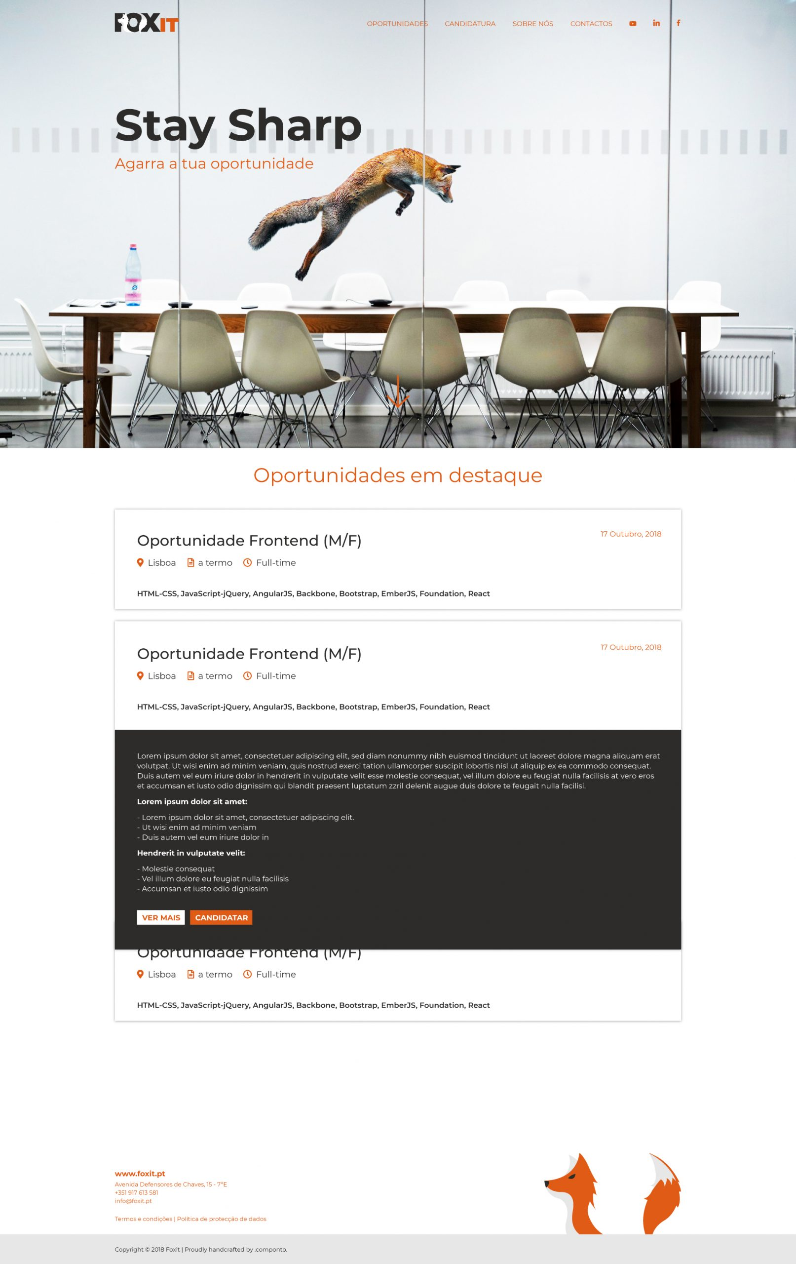 Logotipo e site em wordpress da Fox IT
