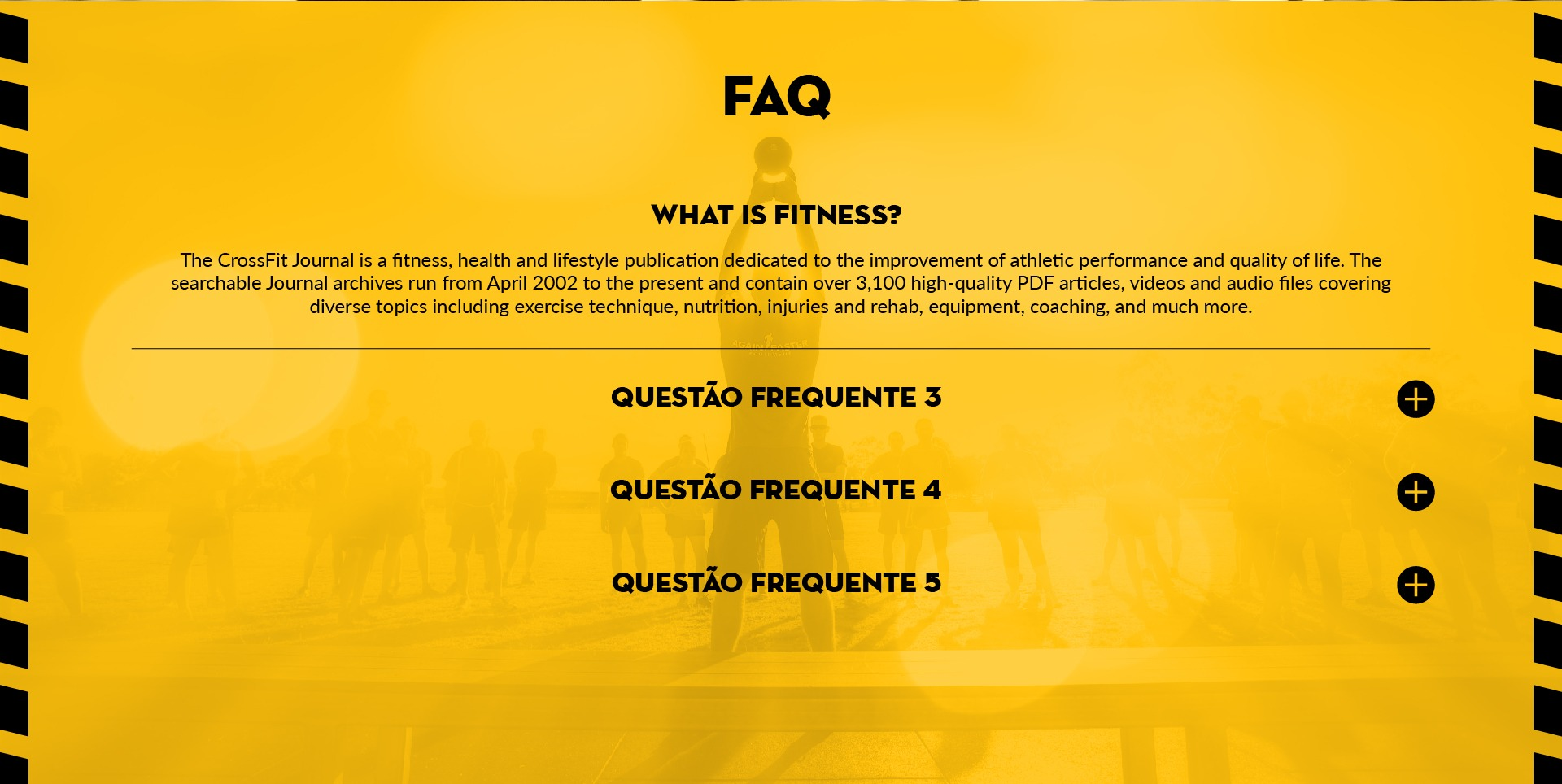 Site em wordpress da Off Limits Crossfit