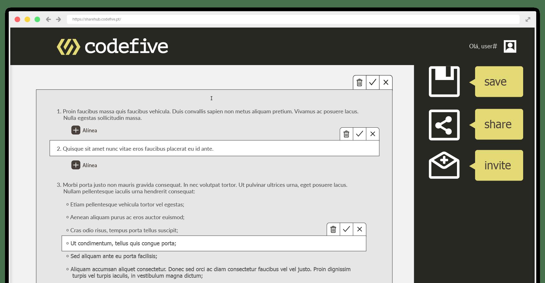 Desenvolvimento de plataforma colaborativa - o Sharehub
