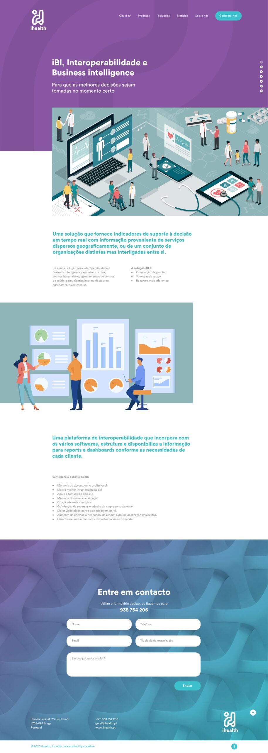 Site em wordpress com e-commerce e SEO da iHealth
