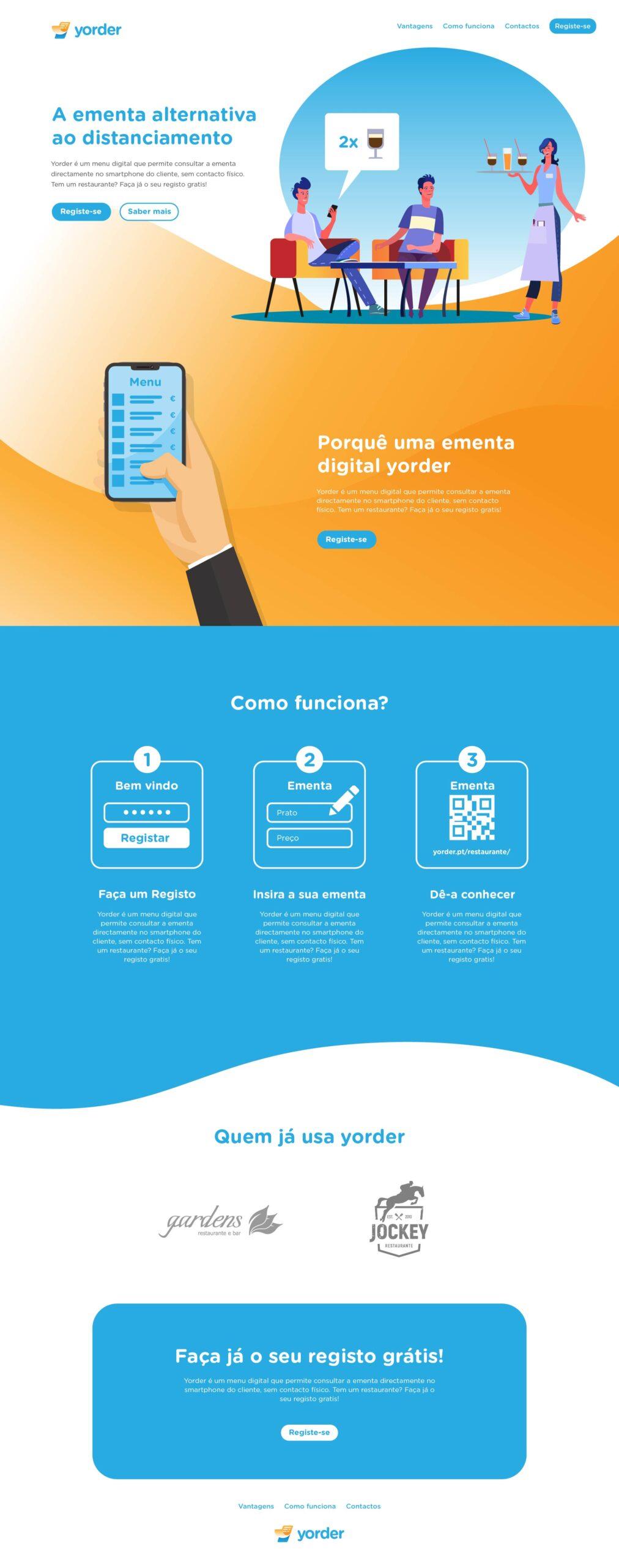 Site em wordpress com e-commerce e SEO da Yorder