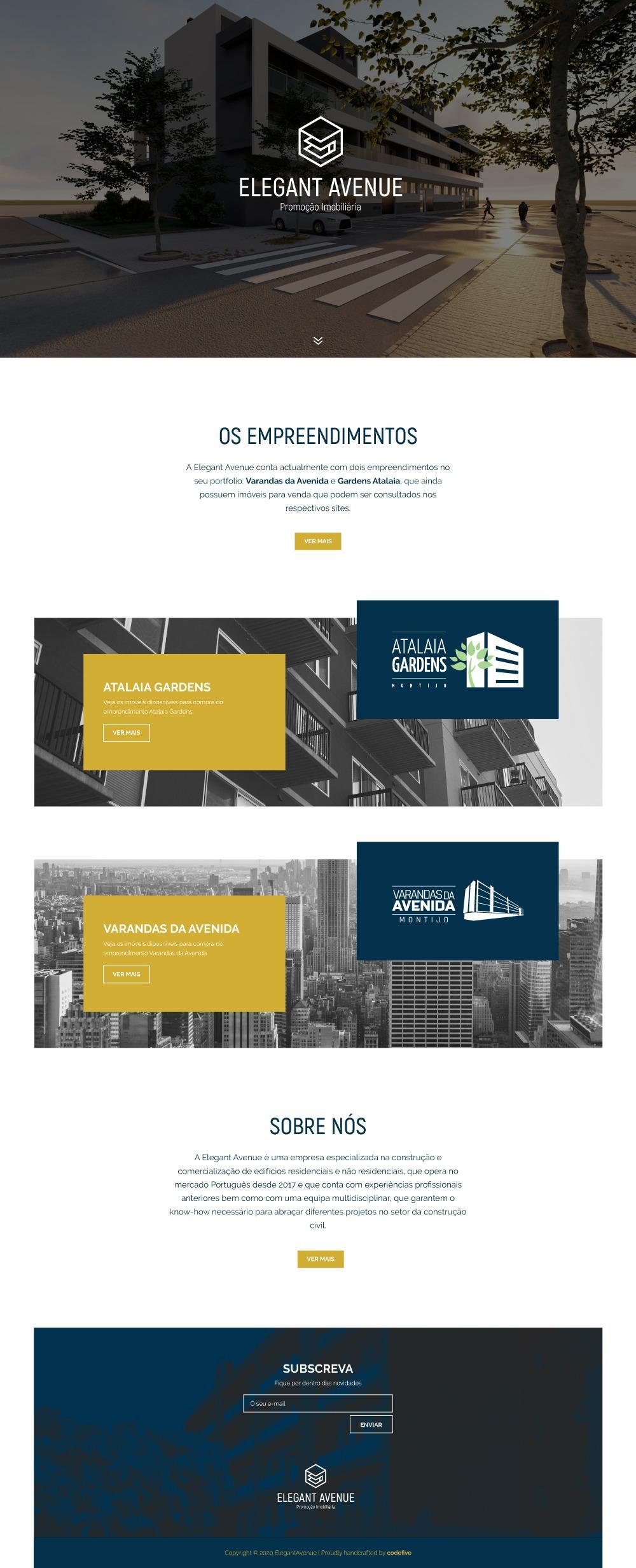 Site em WordPress e SEO da Elegant Avenue