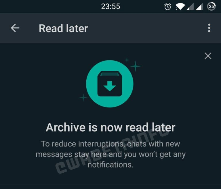 WhatsApp: Marcar conversas com Ler Depois